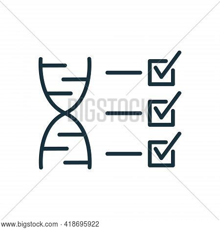 Test Dna Line Icon. Analysis And Check Of Genetic Code. Genetics Testing And Verification. Dna Analy