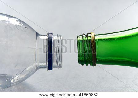 Plastic Versus Glass Bottles