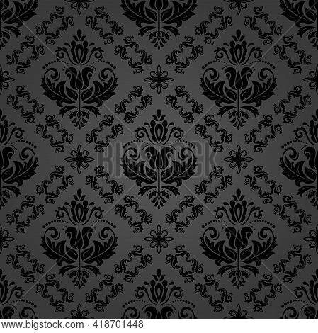 Orient Classic Pattern. Seamless Abstract Background With Vintage Elements. Orient Dark Background.