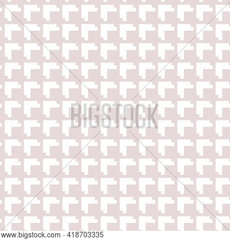 Subtle Vector Geometric Seamless Pattern. Abstract Minimal Texture With Small Squares, Grid, Lattice