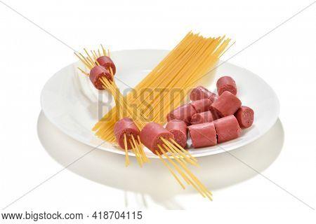 Lifehack; easy dinner hot dog skewers