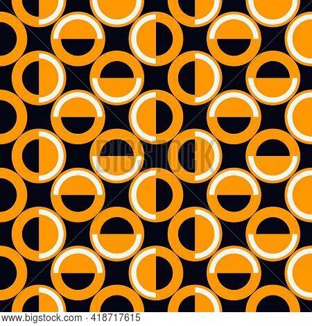 Polka Dot Ornament. Repeated Circles Seamless Pattern. Modern Stile Geometric Background. Geo Motif