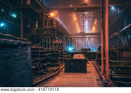 Metallurgical Plant Foundry Workshop Production Manufacturing Building Inside Interior, Heavy Indust