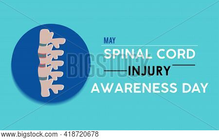 Spinal Cord Injury Awareness Day Prevention And Awareness Vector Concept. Banner, Poster Spinal Cord