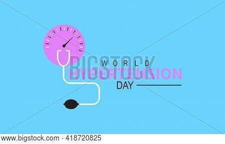 World Hypertension Day Health Prevention And Awareness Vector Concept. Banner, Poster World Hyperten