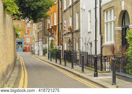 July 2020. London. A Street In Kensington In London, England, Uk Europe