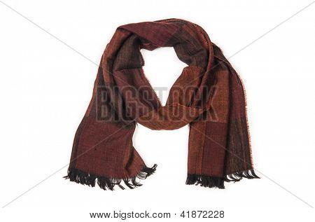 Warf Schal auf dem weißen Hintergrund isoliert
