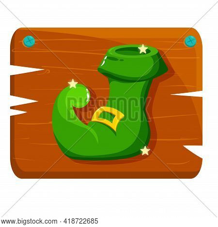 Isolated Ireland Shoe Wood Saint Patricks Day Ireland Icon- Vector
