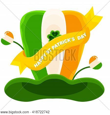 Isolated Hat Ireland Wood Saitn Patricks Day Ireland Icon- Vector