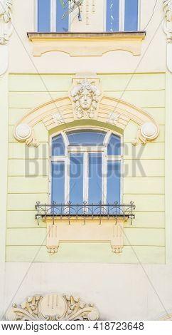 August 2020. In Bielsko Biala, Silesia, Poland. Detail On Local Architecture In Bielsko Biala, Siles