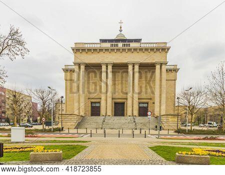 Katowice Poland. April 2019. Cathedral Of Christ The King, In Katowice, Silesian, Poland Europe