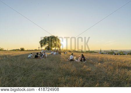 Krakow Poland August 2020. Sunset View From Krakow Mound, Krakow, Poland