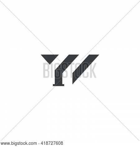 Letter Yi Abstract Geometric Line Logo Vector