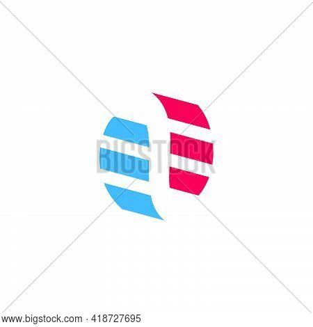 Stripes Abstract Dimensional Arrows Circle Logo Vector
