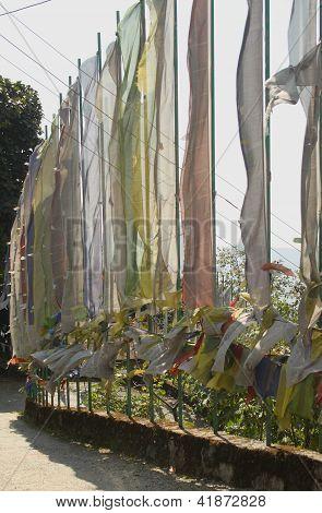 Prayer flags at Pemayangtse Monastery