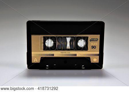 Old Audio Cassette Tape Stereo Record Cassette