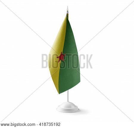 Small National Flag Of The French Guiana On A White Background