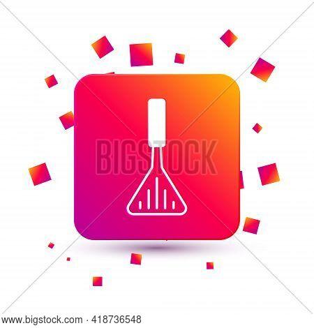 White Barbecue Spatula Icon Isolated On White Background. Kitchen Spatula Icon. Bbq Spatula Sign. Ba