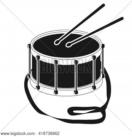 Drum. Drum Icon Isolated On White Background. Vector Illustration. Vector.