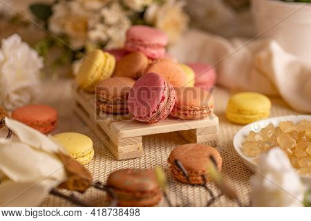 French Almond Macarons, Airy And Flavorful Bite-sized Cookies