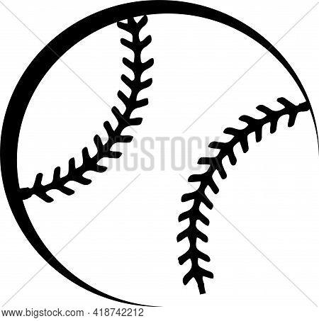 Baseball Icon Isolated On Background , Single, Slam, Soft, Softball