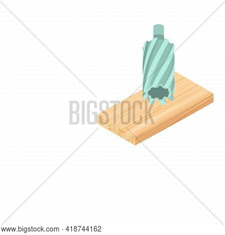 Annular Cutter Icon. Isometric Illustration Of Annular Cutter Vector Icon For Web