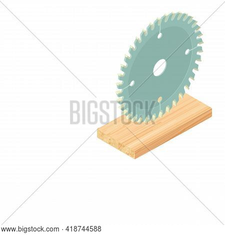 Circular Saw Icon. Isometric Illustration Of Circular Saw Vector Icon For Web