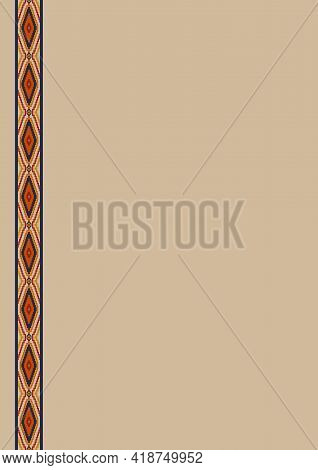 Ethnic Pattern Background With Copy Space For Text. For Mexican Restaurant Menu, Party Invitation, G