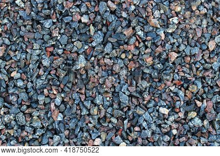 Small Crushed Stone For Construction Background Or Texture