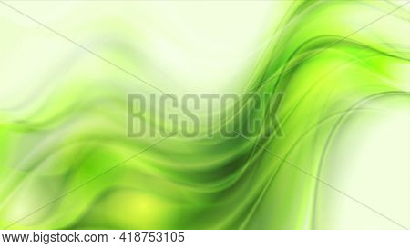 Vibrant green elegant smooth blurred waves abstract motion background. Video animation Ultra HD 4K 3840x2160