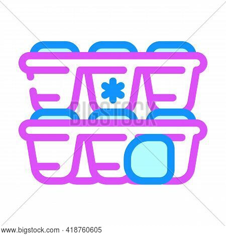Form For Ice Bartender Color Icon Vector. Form For Ice Bartender Sign. Isolated Symbol Illustration