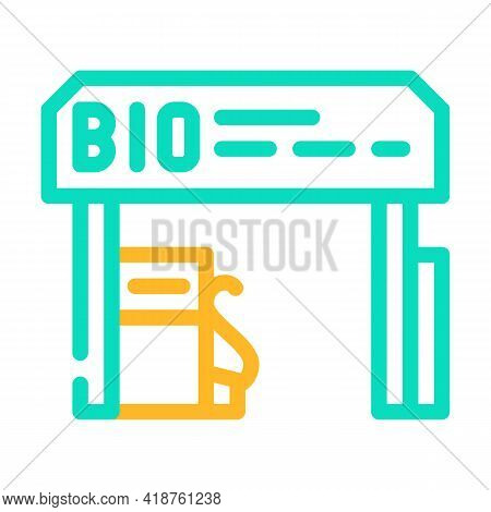 Refueling Biogas Station Color Icon Vector. Refueling Biogas Station Sign. Isolated Symbol Illustrat