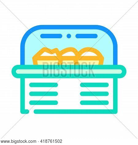 Food Showcase Color Icon Vector. Food Showcase Sign. Isolated Symbol Illustration