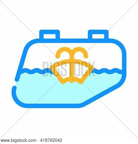 Glass Washing Car Color Icon Vector. Glass Washing Car Sign. Isolated Symbol Illustration