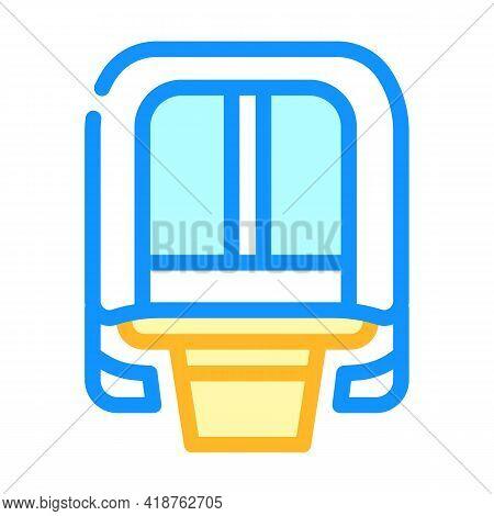 Maglev Modern Train Railway Color Icon Vector. Maglev Modern Train Railway Sign. Isolated Symbol Ill