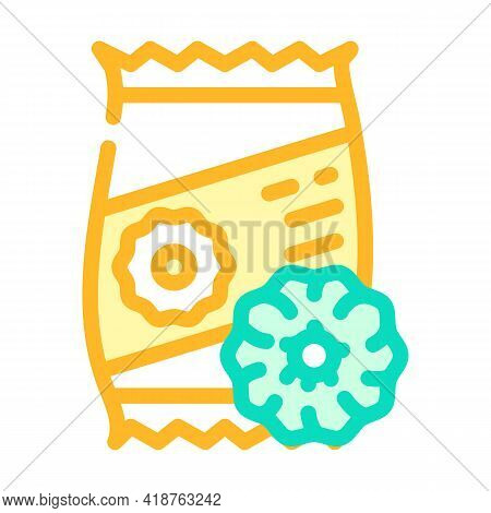 Onion Rings Snack Color Icon Vector. Onion Rings Snack Sign. Isolated Symbol Illustration