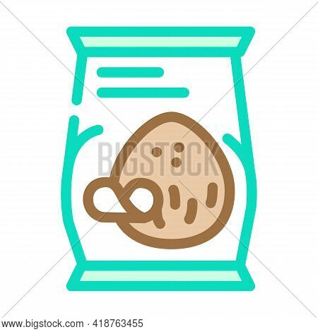 Coconut Chips Snack Color Icon Vector. Coconut Chips Snack Sign. Isolated Symbol Illustration