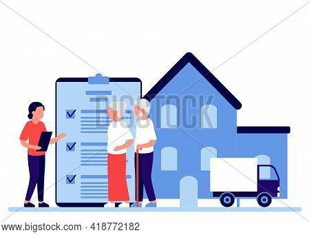 Property Insurance People Senior Retirement, Testament Signing, Appraisal Estate. Financial Advisor