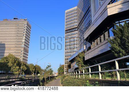 Essen, Germany - September 20, 2020: Modern Architecture Of Sudviertel District In Essen, Germany. E