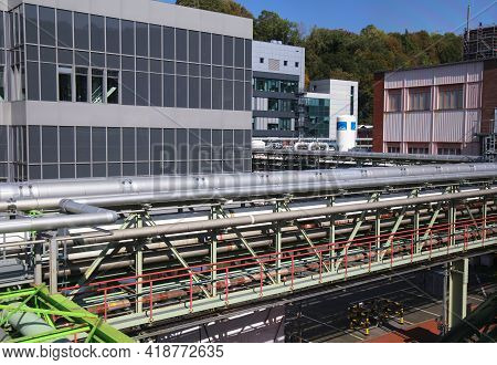 Wuppertal, Germany - September 19, 2020: Bayer Pharmaceutical Factory In Wuppertal, Germany. Bayer I