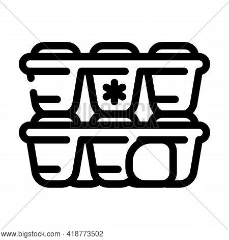 Form For Ice Bartender Line Icon Vector. Form For Ice Bartender Sign. Isolated Contour Symbol Black