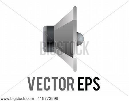 The Isolated Vector Silver And Black Circle Sound Music Speaker Cone Displayed Icon Without Any Soun