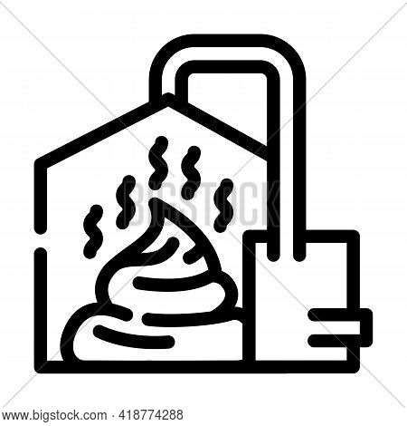 Method Of Obtaining From Feces Biogas Line Icon Vector. Method Of Obtaining From Feces Biogas Sign.