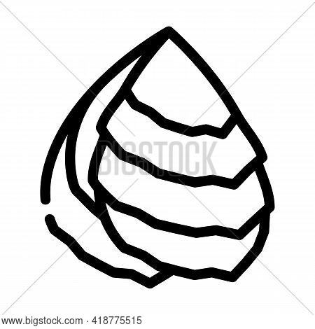 Oyster Ocean Line Icon Vector. Oyster Ocean Sign. Isolated Contour Symbol Black Illustration