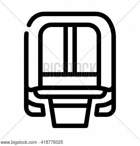 Maglev Modern Train Railway Line Icon Vector. Maglev Modern Train Railway Sign. Isolated Contour Sym