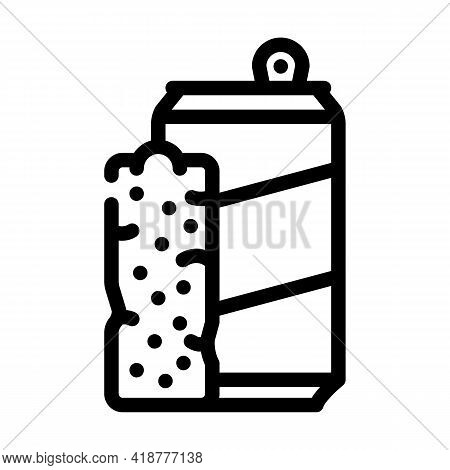 Bars Snack And Drink Container Line Icon Vector. Bars Snack And Drink Container Sign. Isolated Conto