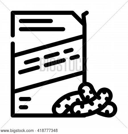 Corn Sticks Snack Line Icon Vector. Corn Sticks Snack Sign. Isolated Contour Symbol Black Illustrati