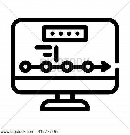 Logistics Tracking Wholesale Line Icon Vector. Logistics Tracking Wholesale Sign. Isolated Contour S