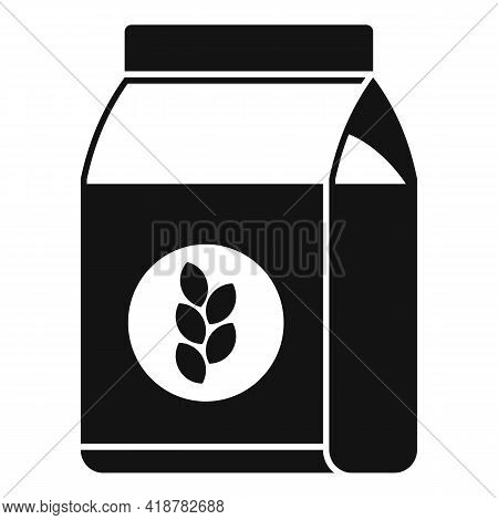 Flour Pack Icon. Simple Illustration Of Flour Pack Vector Icon For Web Design Isolated On White Back