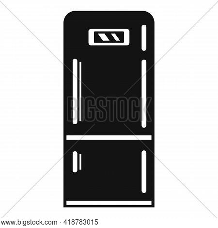 Home Fridge Icon. Simple Illustration Of Home Fridge Vector Icon For Web Design Isolated On White Ba